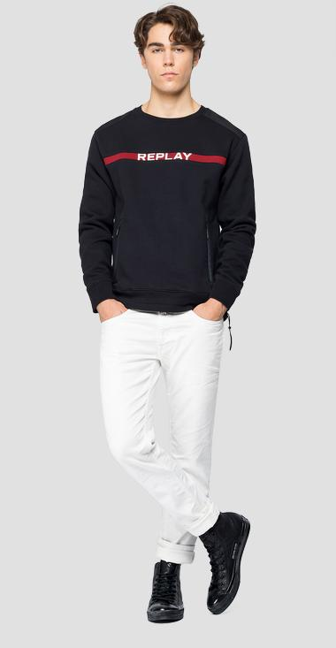 REPLAY sweatshirt with drawstring - Replay M3247_000_22706_098_1