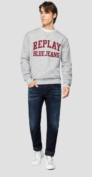 Sweatshirt with REPLAY BLUE JEANS embroidery - Replay M3249_000_22604_M15_1