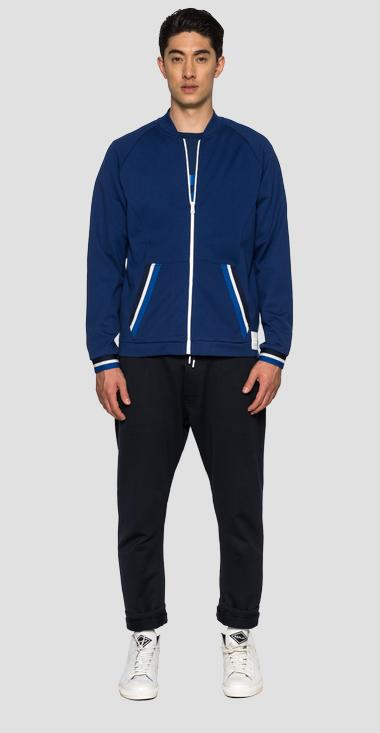 SPORTLAB bomber sweatshirt with zipper - Replay M3272_000_S52354_174_1
