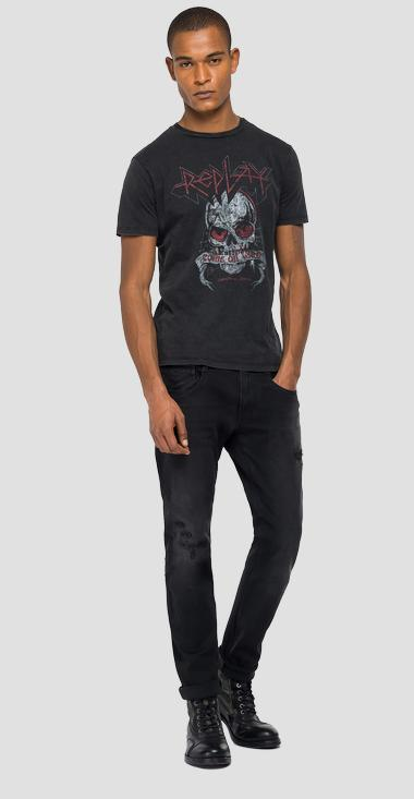 REPLAY ROCK CAPSULE COLLECTION t-shirt with skull - Replay M3278A_000_22658M_099_1
