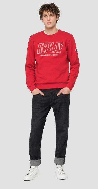 REPLAY DENIM GOODS SINCE 1981 crewneck sweatshirt - Replay M3320_000_21842_558_1