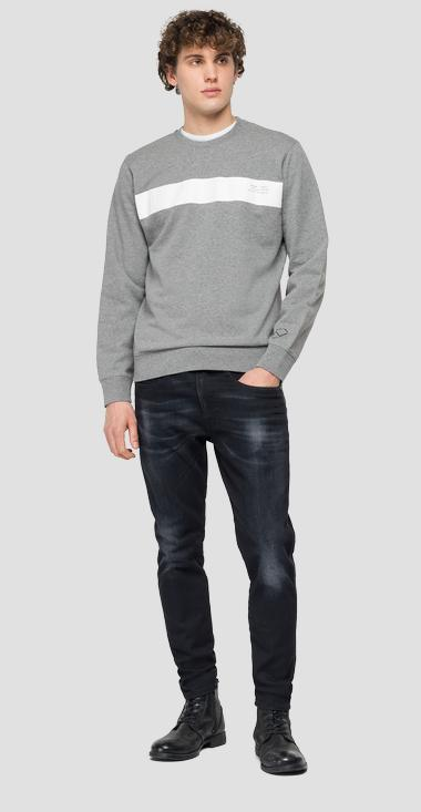 Crewneck sweatshirt with print - Replay M3325_000_22390P_M02_1