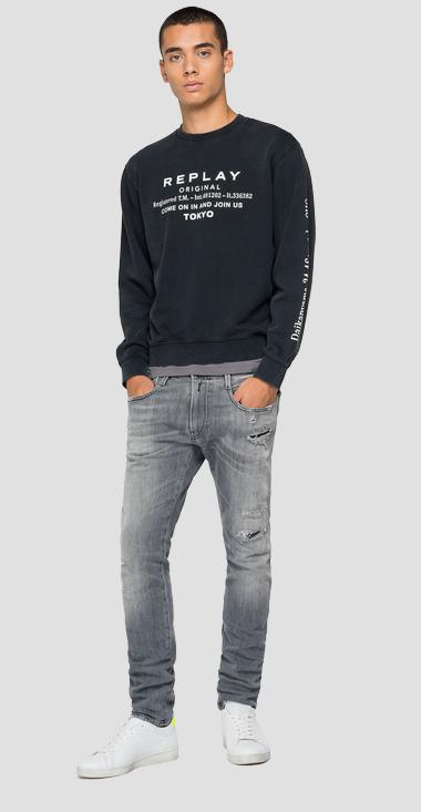 Crewneck REPLAY sweatshirt in cotton - Replay M3335_000_22738LM_098_1