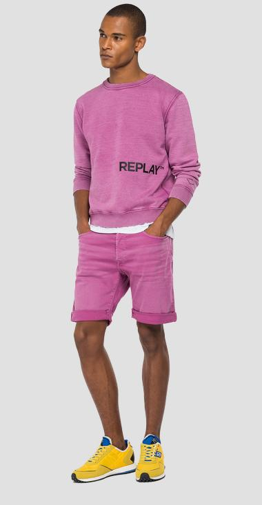 Crewneck sweatshirt with REPLAY print - Replay M3336_000_22738G_306_1