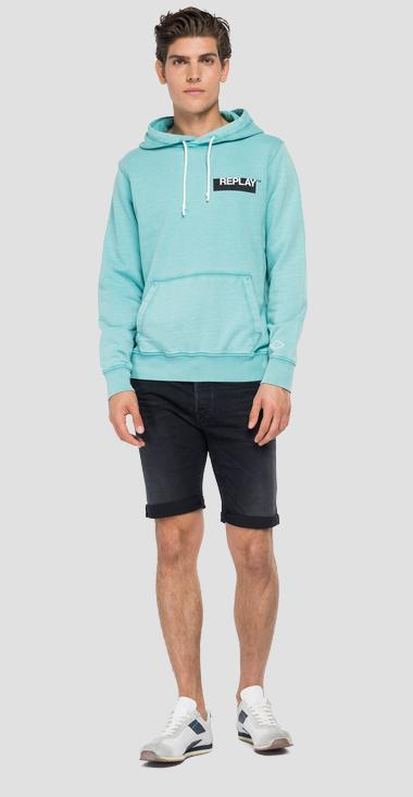 Hoodie with REPLAY print - Replay M3337_000_22738G_488_1