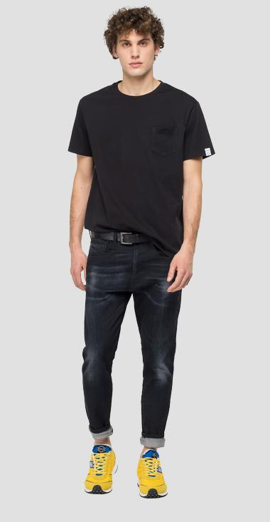 Essential crewneck t-shirt in cotton - Replay M3350_000_23100G_998_1