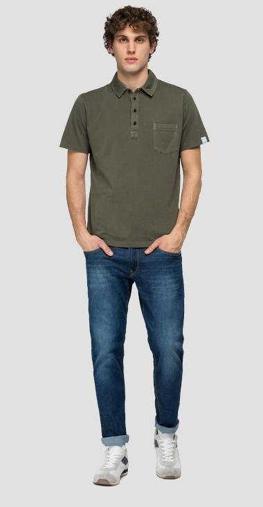 Essential polo shirt in jersey - Replay M3353_000_23100G_439_1