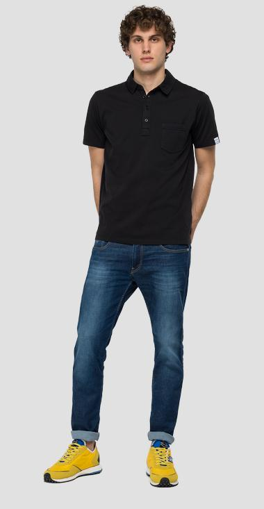 Essential polo shirt in jersey - Replay M3353_000_23100G_998_1