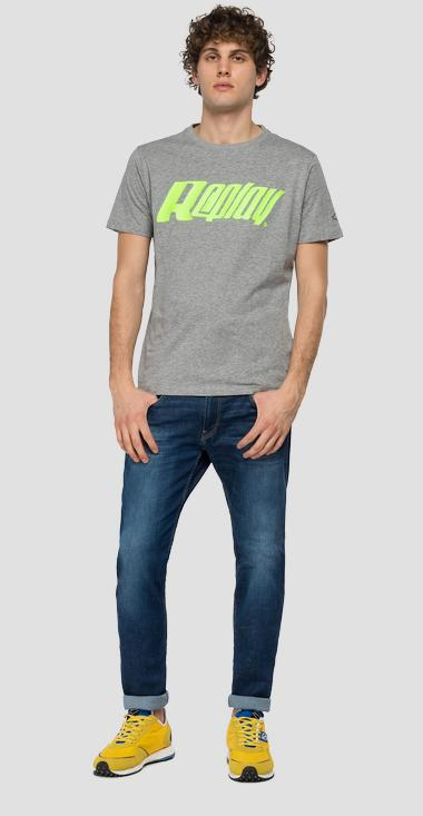 REPLAY crewneck t-shirt in jersey - Replay M3362_000_2660_M02_1