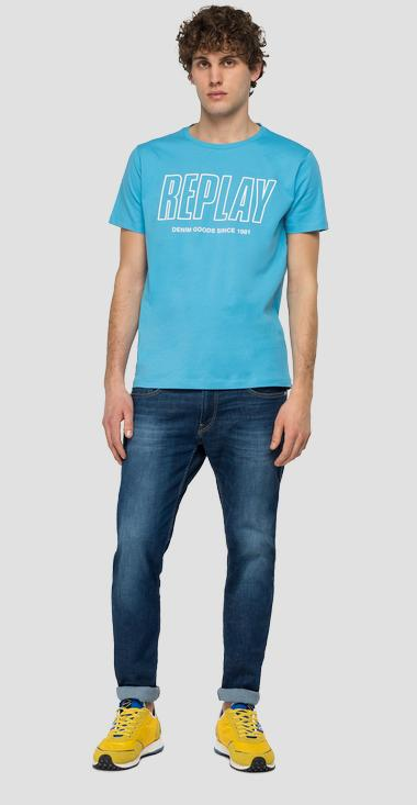 REPLAY DENIM GOODS crewneck t-shirt - Replay M3395_000_2660_204_1