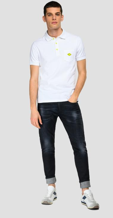 Piqué polo shirt with pocket - Replay M3397_000_20623_801_1
