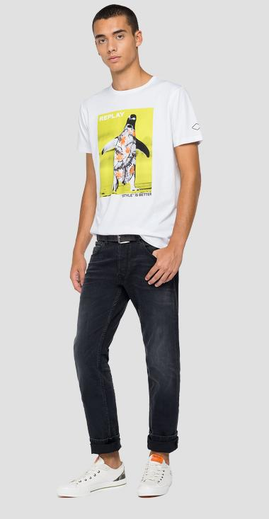 T-Shirt mit REPLAY STYLE IS BETTER-Aufdruck - Replay M3410_000_2660_001_1