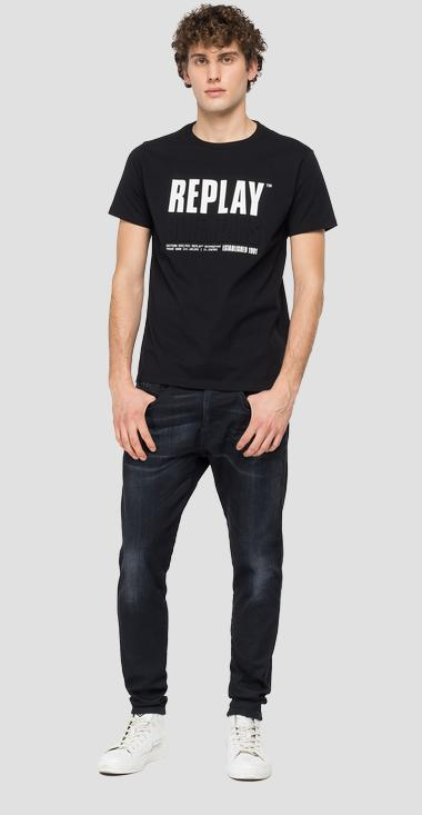 REPLAY BLUE JEANS ESTABLISHED 1981 print t-shirt - Replay M3413_000_22880_098_1