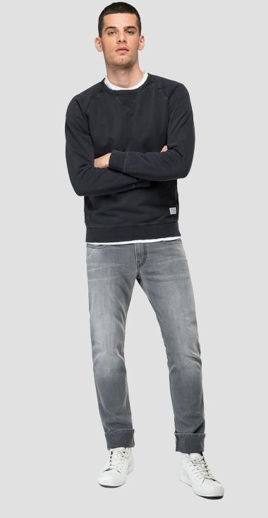Essential REPLAY cotton sweatshirt - Replay M3438_000_22890G_098_1