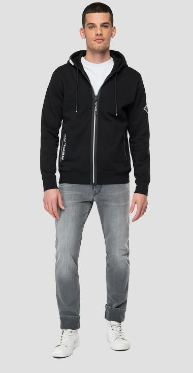 Hoodie with zipper - Replay M3441_000_21842_098_1