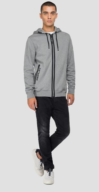 Hoodie with zipper - Replay M3441_000_21842_M02_1