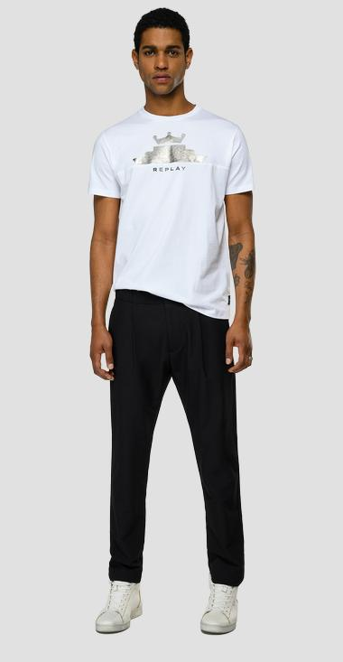 Jersey t-shirt with REPLAY print - Replay M3465_000_22980P_011_1