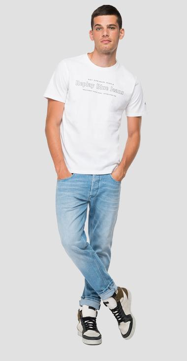 T-shirt NOT ORDINARY PEOPLE REPLAY BLUE JEANS - Replay M3490_000_22662G_001_1