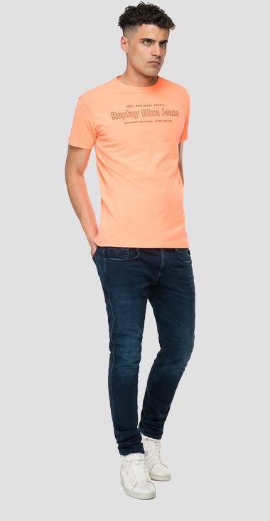 NOT ORDINARY PEOPLE REPLAY BLUE JEANS t-shirt - Replay M3490_000_22662G_649_1