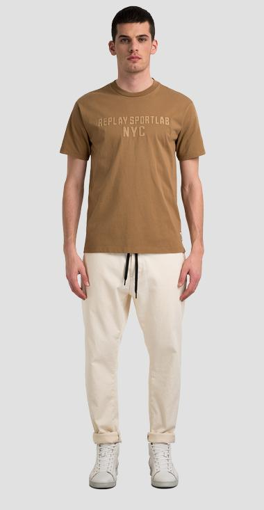 Crewneck jersey t-shirt with REPLAY SPORTLAB NYC writing - Replay M3512_000_S23228_248_1