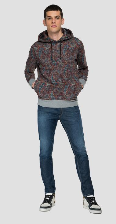 Hoodie with all-over print - Replay M3539_000_73526_010_1