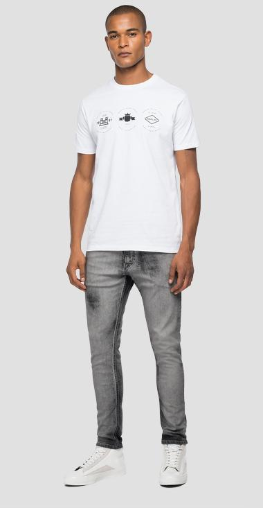 Jersey t-shirt with archive REPLAY BLUE JEANS graphic - Replay M3556_000_22608_001_1