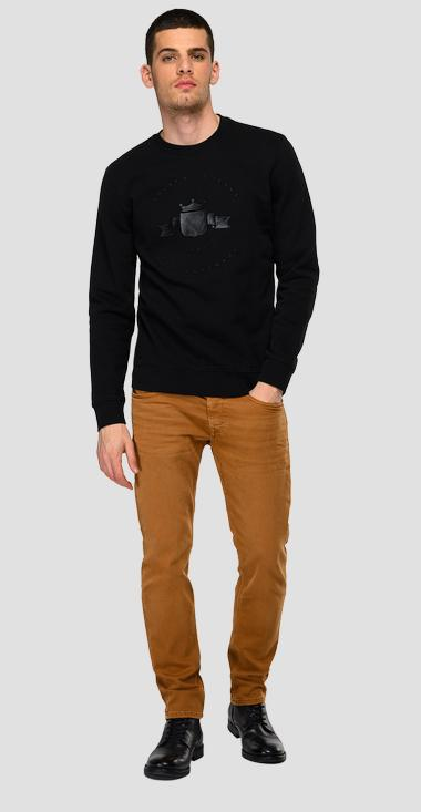 Archive REPLAY BLUE JEANS graphic crewneck sweatshirt - Replay M3557_000_21842_098_1