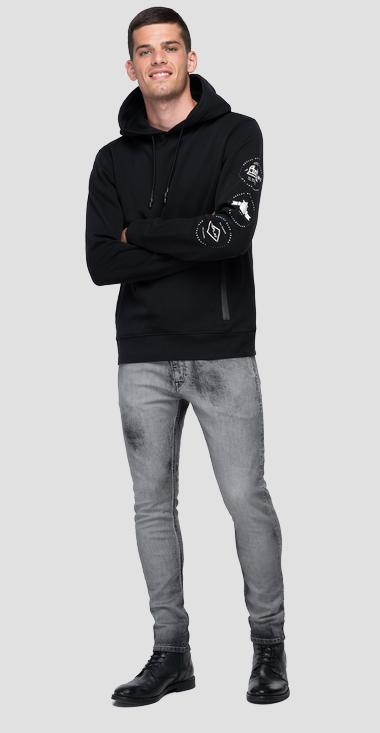 Archive REPLAY BLUE JEANS graphic hoodie - Replay M3558_000_21842_098_1