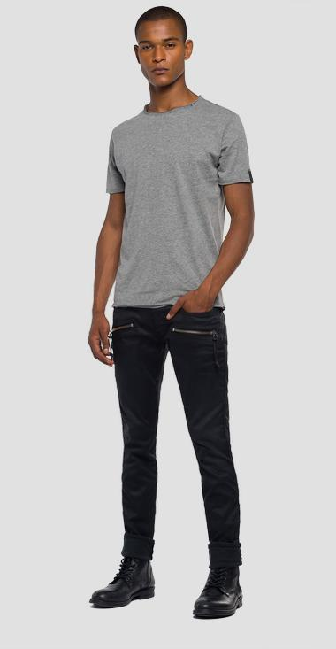 Raw cut cotton t-shirt - Replay M3590_000_2660_M03_1