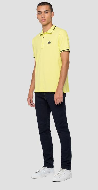 Piquè polo shirt with slits - Replay M3685A_000_21868_183_1