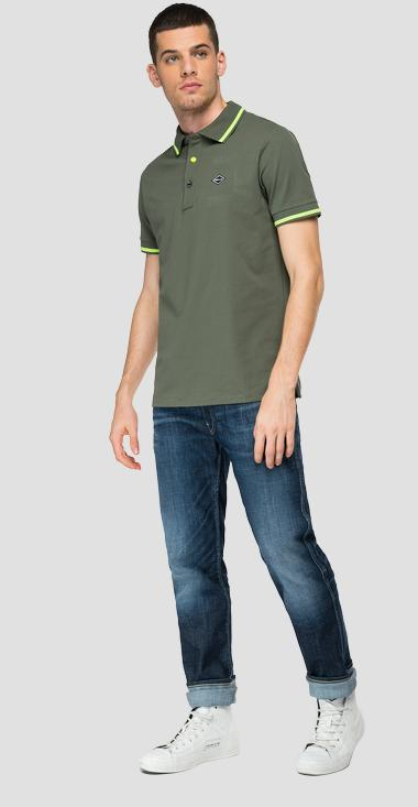 Piquè polo shirt with slits - Replay M3685A_000_21868_314_1