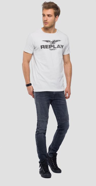 T-shirt REPLAY 1981 mit Adler-Logo - Replay M3768_000_22662_563_1