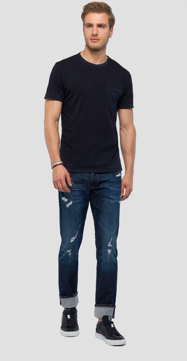 T-shirt with pocket - Replay M3778_000_22326_099_1
