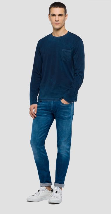 Long-sleeved t-shirt with pocket - Replay M3779_000_22326_971_1