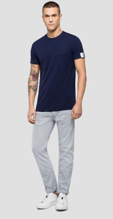 T-shirt with wrinkled pocket - Replay M3780_000_22524O_086_1