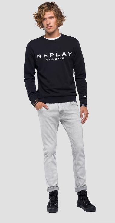 Sweatshirt lettering print - Replay M3801_000_22390P_098_1