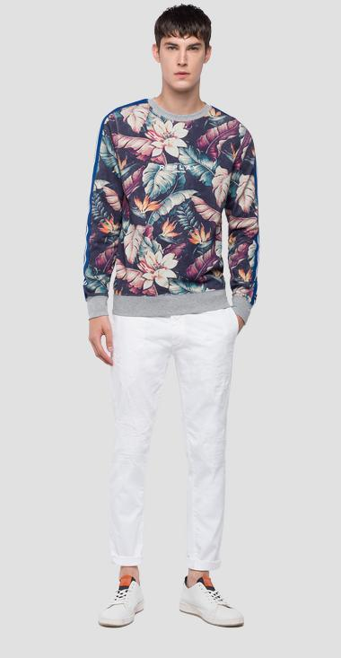 Sweatshirt with floral print - Replay M3802_000_71744_010_1