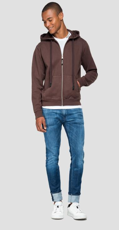 Hoodie with zipper - Replay M3807A_000_22512B_278_1