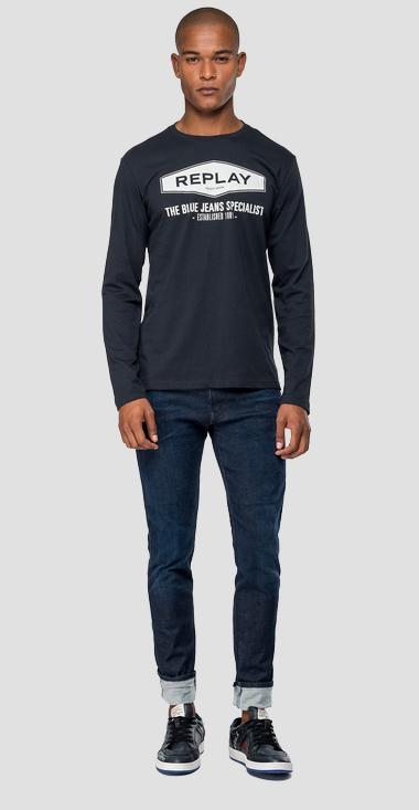 THE BLUE JEANS SPECIALIST t-shirt - Replay M3850_000_2660_499_1