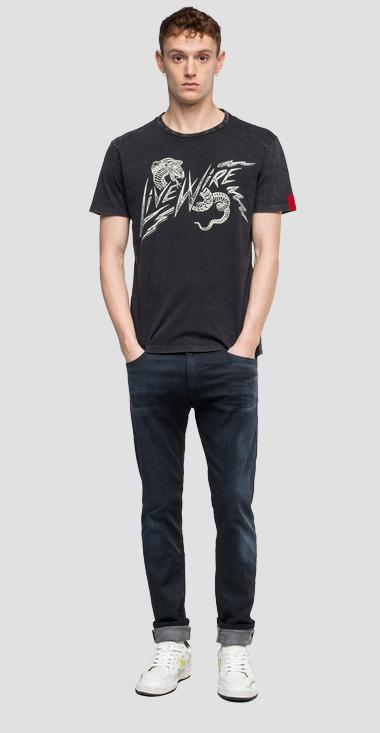 LIVE WIRE writing t-shirt - Replay M3869_000_22658M_099_1