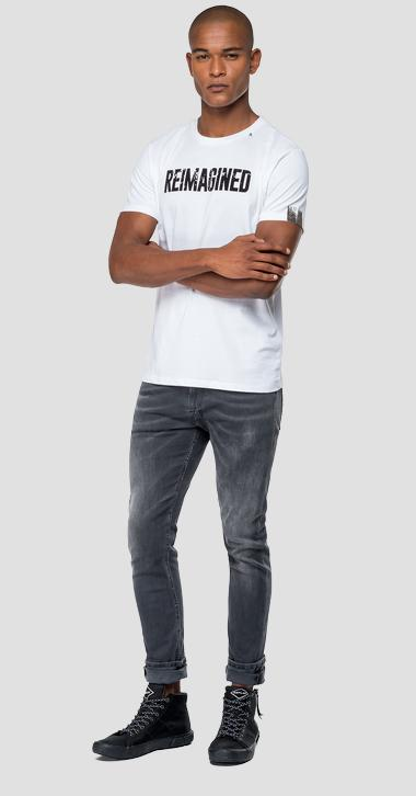Camiseta con texto REIMAGINED - Replay M3871_000_22432_001_1