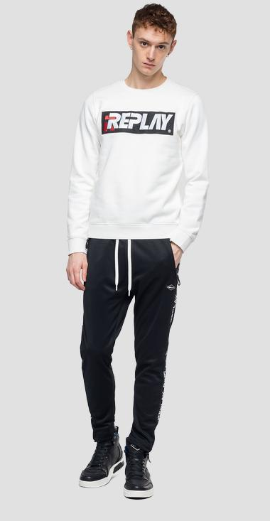 Sweatshirt with embroidered REPLAY logo - Replay M3908_000_21842_011_1
