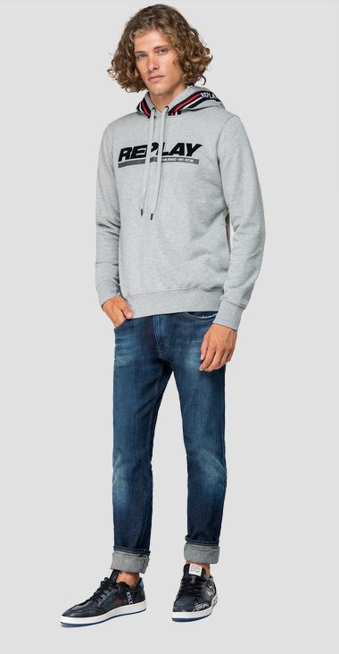 Sweatshirt with contrasting-coloured stripes - Replay M3911_000_21842_M05_1