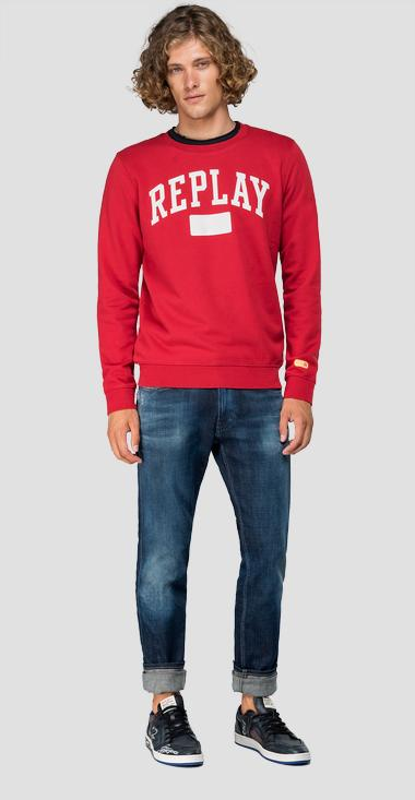 Crewneck sweatshirt with writing - Replay M3920_000_22390P_359_1