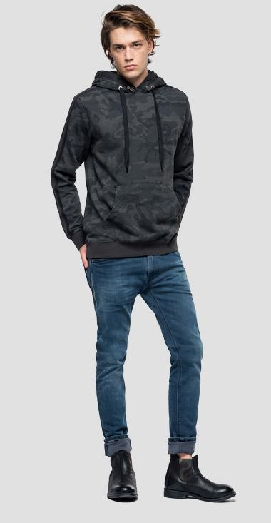 Sweatshirt with hidden hood - Replay M3929_000_71840_010_1