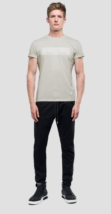 T-shirt with contrasting print sportlab - Replay M3953_000_S22740C_412_1