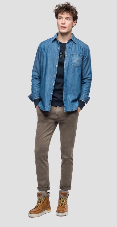 Denim shirt with pocket - Replay M4009A_000_26C-518_009_1