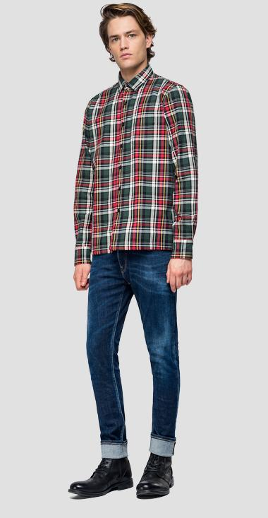 Shirt with checked pattern - Replay M4012P_000_52144_010_1