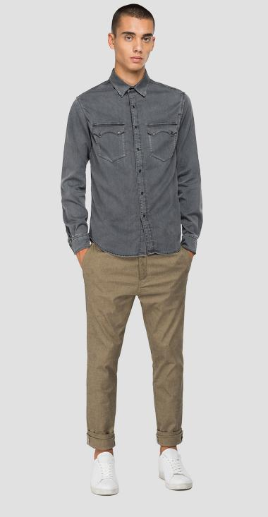 Tailored denim shirt - Replay M4022_000_369-Z37_096_1
