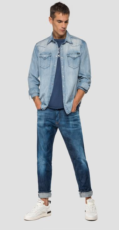 Faded denim shirt - Replay M4023_000_26C-616_010_1